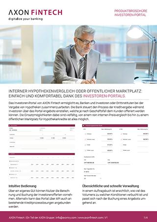 Interner Hypothekenvergleich oder öffentlicher Marktplatz: Einfach und komfortable dank des Investoren-Portals.